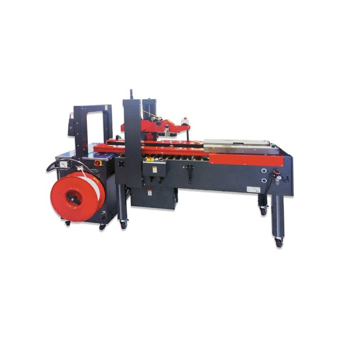 Combined Machine For Box Forming+Sealing+Strapping - PACKFORMER
