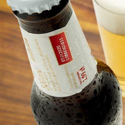 Printing Onto Bottle Labels