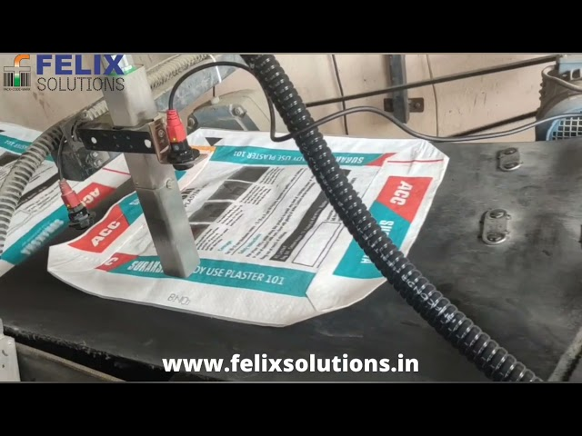 Citronix Continuous Inkjet Printer Coding On Cement Bags