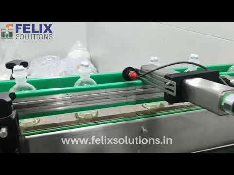 Citronix Continuous Inkjet Printer Coding On Gluco Bottle Neck